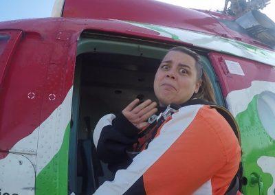 Beszállás a helikopterbe